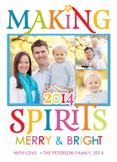 new year's cards - Making Spirits Merry & Bright by Lilly Chern