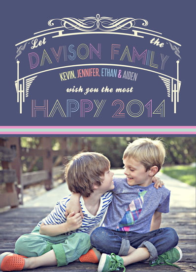 new year's cards - Happy 2014 Handsome Greeting by Lilly Chern