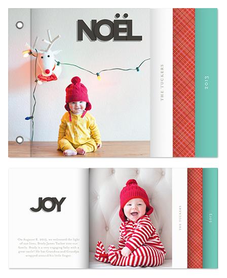 minibook cards - papercut letters by nocciola design