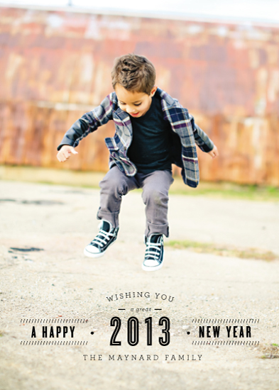 new year's cards - Inline for a New Year by Jackie Mangiolino