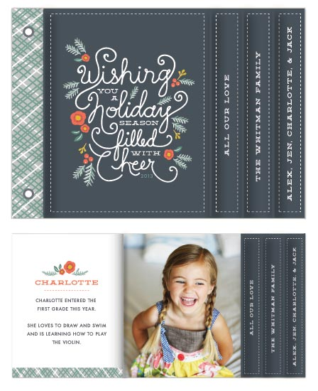 minibook cards - Winter Foliage Cheer by Karidy Walker