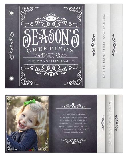 minibook cards - Blackboard Holiday by Erin Deegan
