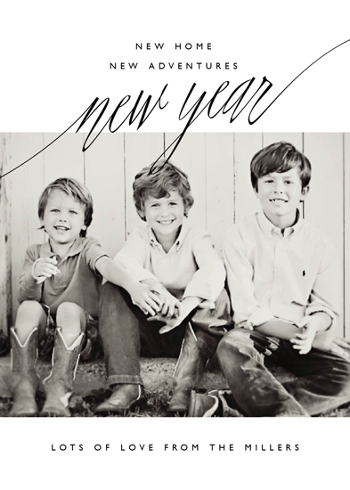 new year's cards - New Adventures by Oscar & Emma