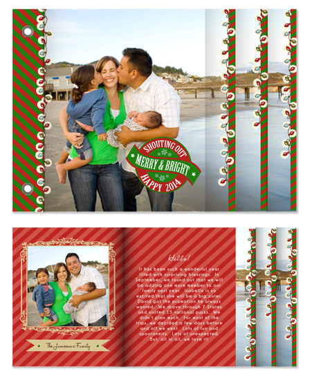 minibook cards - Merry & Bright Traditional Beauty by Lilly Chern