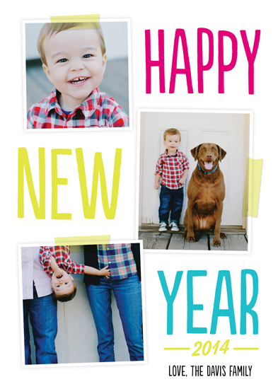 new year's cards - neon + new by Robin Ott