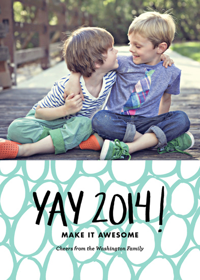 new year's cards - Yay 2014! by Amanda Claybrook