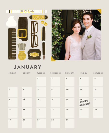 calendars - Dapper Calendar by Lori Wemple