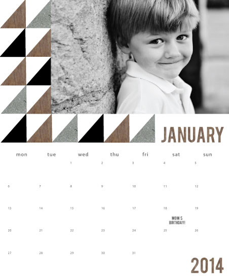 calendars - Textured Triangles by Jenn Johnson
