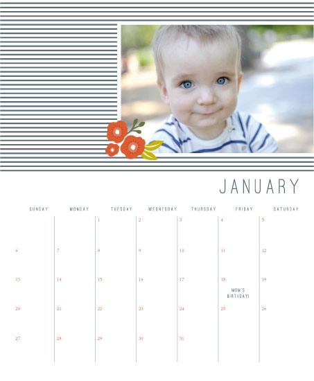 calendars - Nautical Stripes by Karidy Walker