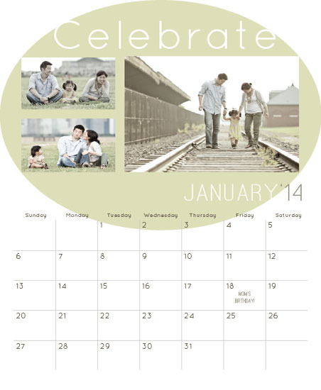 calendars - Celebrate Family by Katherine Reynaud