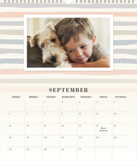 calendars - Pastel Stripes by Hooray Creative
