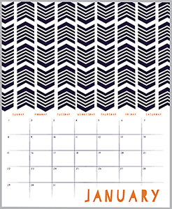 calendars - crafted with line by Shanna McNear
