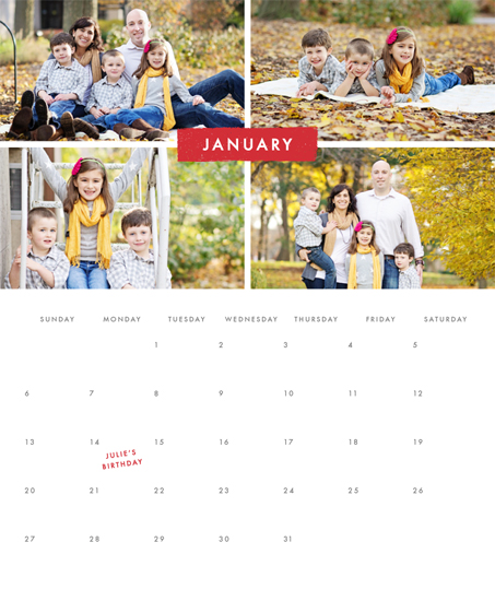 calendars - Simple Stripe by Amber Barkley
