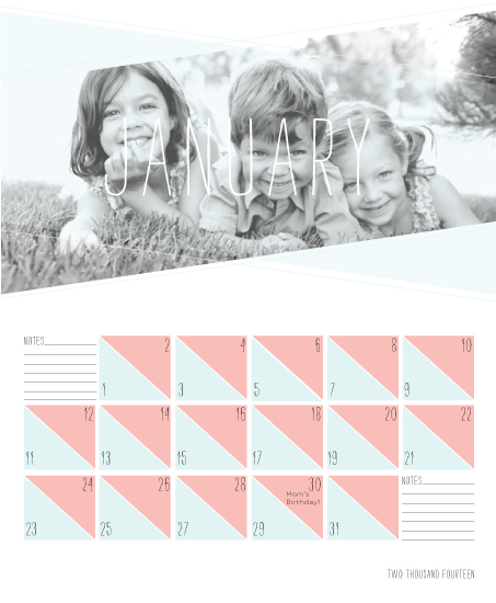 calendars - geometry by Bethany Anderson