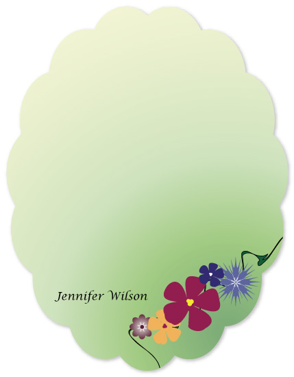 personal stationery - Flower Garden by This Place Needs More Pastel Flowers