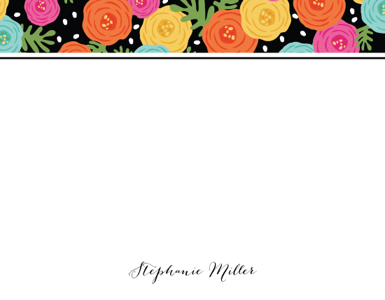 personal stationery - Bright Ranunculus Stationery by Angie Sandy
