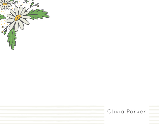 personal stationery - Delightful Daisies by Angie Sandy