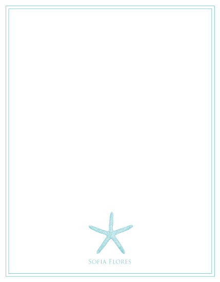 personal stationery - starfish summer by PAPERlicious