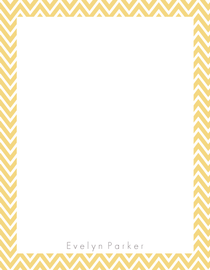 personal stationery - yellow pattern by PAPERlicious