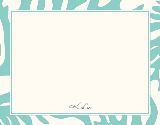 personal stationery - coral by PAPERlicious