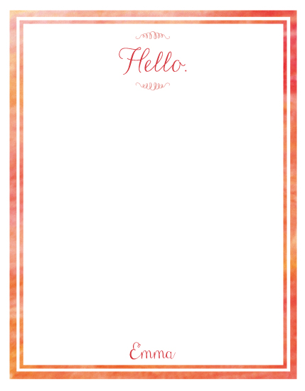 personal stationery - hello by PAPERlicious