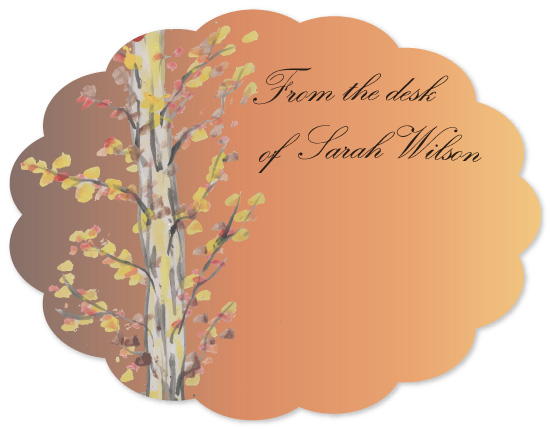 personal stationery - Autumn Forest by This Place Needs More Pastel Flowers