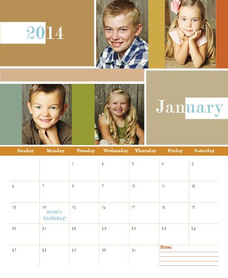 calendars - Multiblock by Katherine Reynaud