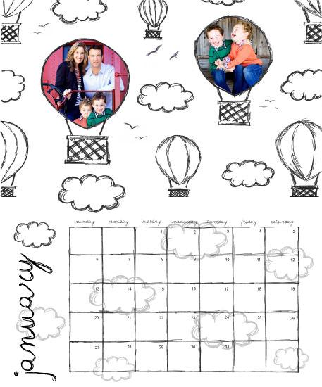 calendars - Hot Balloons by Karina Padilla-Robinson