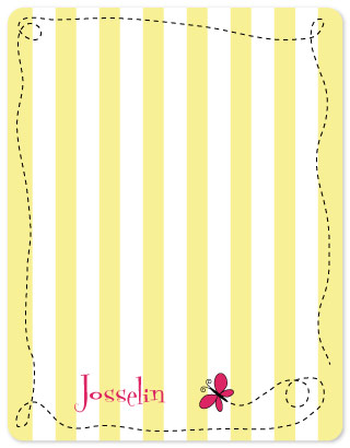 personal stationery - Sweet Stripes by Melissa Boyce