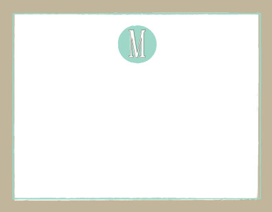 personal stationery - Offset Monogram by Melissa Boyce