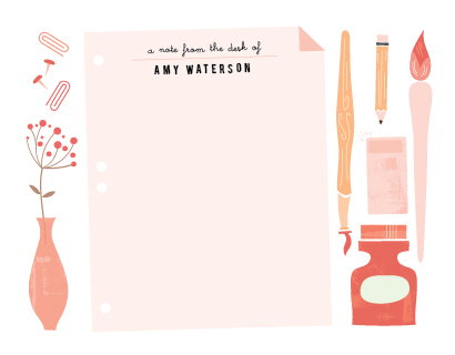 personal stationery - Desk Note by Lori Wemple