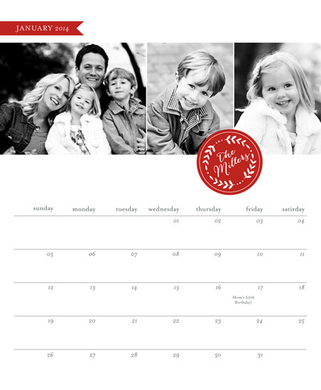 calendars - Family Stamp by Erin Deegan