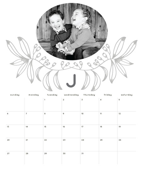calendars - month initial by aticnomar