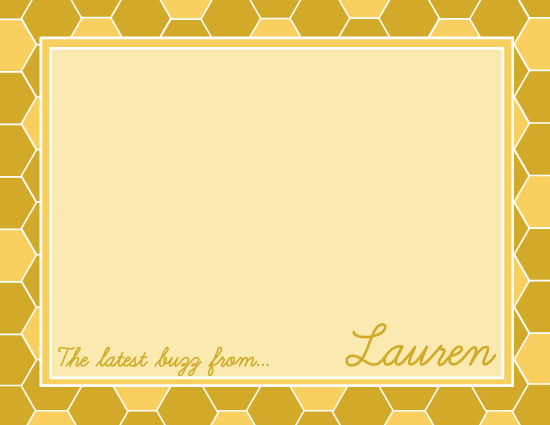 personal stationery - The Honeycomb Buzz by Ali R.