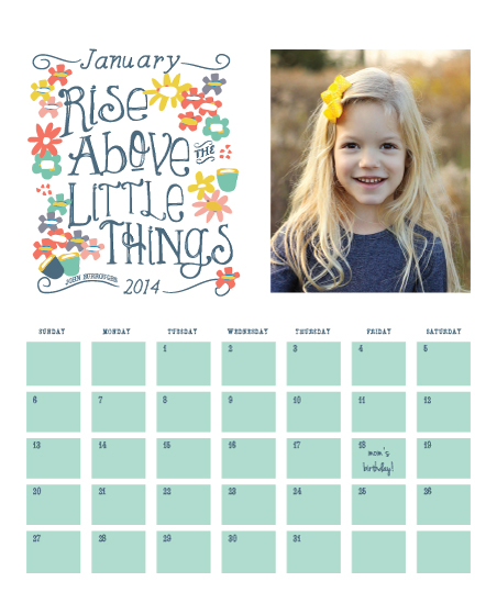 calendars - Rise Above the Little Things by Penelope Strange