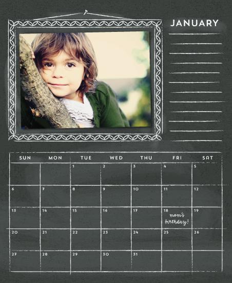 calendars - Time for Chalkboard by Ann Gardner