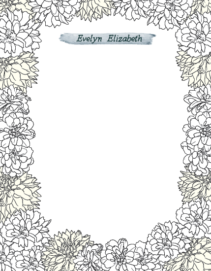 personal stationery - Secret Garden by Penelope Strange