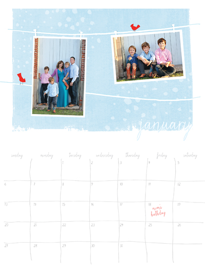 calendars - Clothesline by Vanessa Wolfe