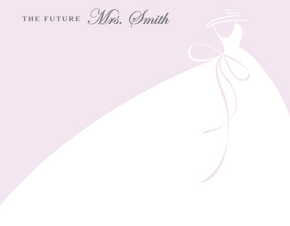 personal stationery - Future Mrs by Lindsay Kivi