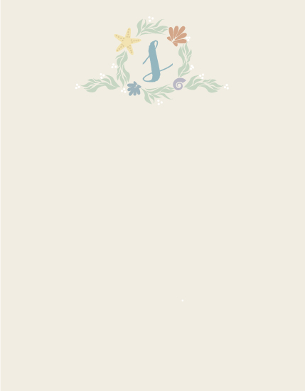 personal stationery - By the Sea by Adriane