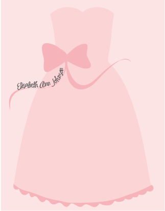 personal stationery - Pretty in Pink by Emily Schutt
