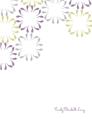 personal stationery - Bloomin' by Emily Schutt