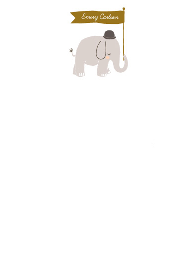 personal stationery - Just An Elephant by Rachel Marvin Creative