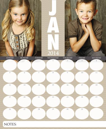 calendars - Ovally Dapper by Paper Parfait