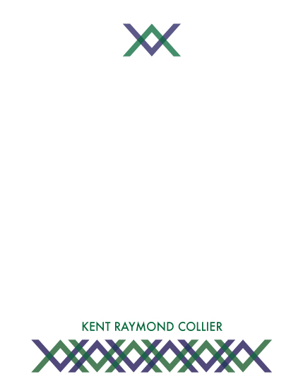personal stationery - Pattern Pour Homme by Clara Pierce