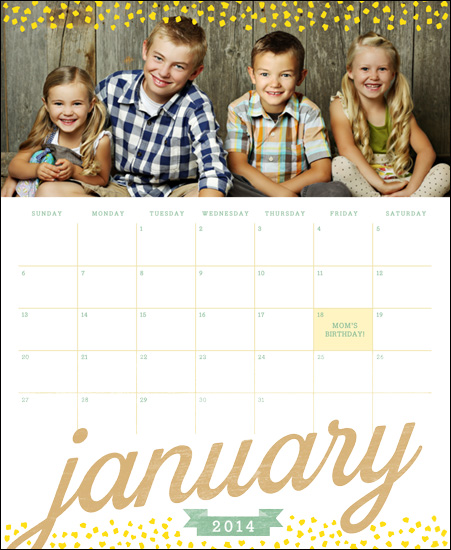 calendars - Speckle Me Yellow by Yolanda Mariak Chendak