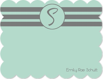 personal stationery - I Mint What I Said by Emily Schutt