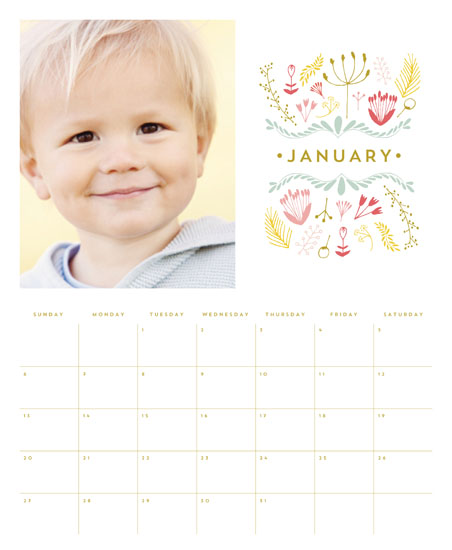 calendars - Floral Crest by Phrosne Ras