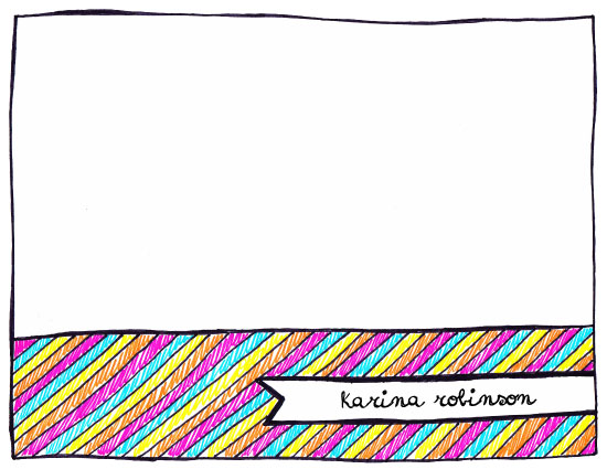 personal stationery - Doodles and Colours by Karina Padilla-Robinson