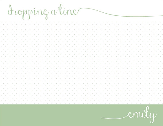 personal stationery - Dropping a Line by Rachel Olson